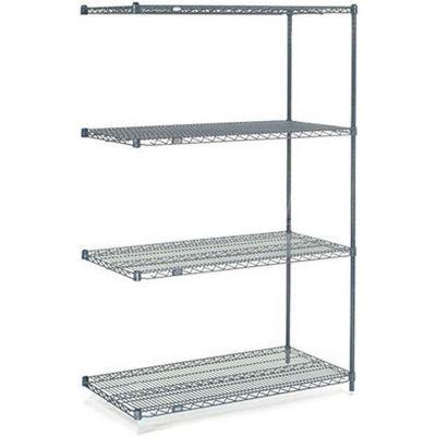 "Nexelon® Wire Shelving Add-On Unit - 5 Tier - 48""W x 18""D x 86""H"