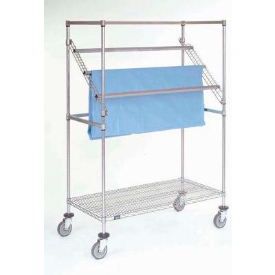 """Nexel® Chrome High Profile Sterile Wrap Rack, 60""""L x 24""""W x 68""""H"""