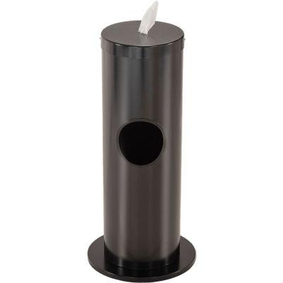 Glaro 2 Gallon Floor Standing Sanitary Wipe Dispenser, Satin Black - F1029-BK