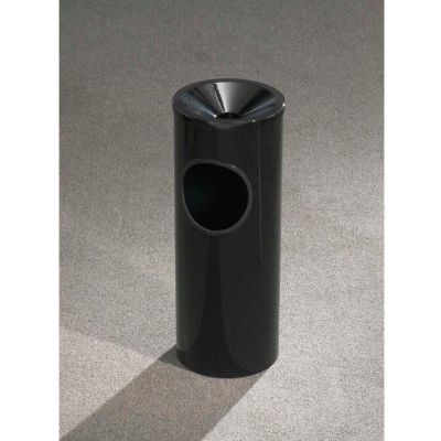 Glaro 3 Gallon Ash/Trash Receptacle w/Funnel Top Ash, Satin Black - F151-BK-BK