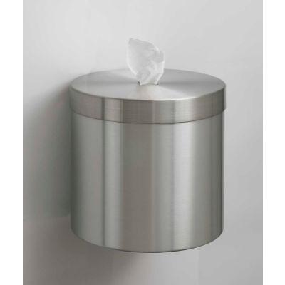 Glaro Wall Mount Sanitary Wipe Disp., Satin Aluminum w/One Roll of Antibac. Wipes-W1015-SA