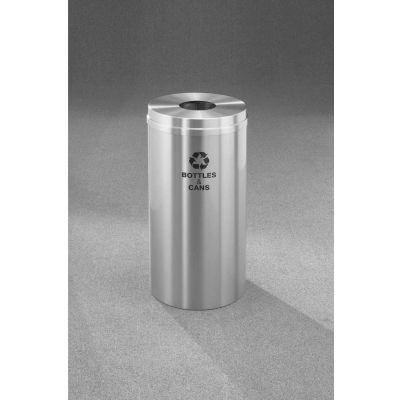 Glaro Recyclepro Single Stream Satin Aluminum, 16 Gallon Bottle/Can - B-1532-SA