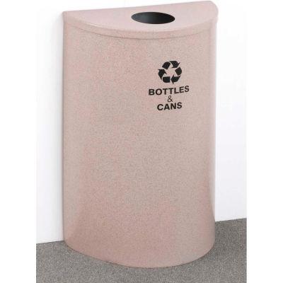 Glaro Recyclepro Single Stream Half Round Gloss Brass, 14 Gallon Bottles/Cans - B1899
