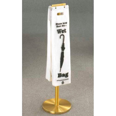 Floor Standing Satin Brass Wet Umbrella Bag Holder