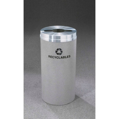 Glaro Recyclepro Single Stream Satin Black, 16 Gallon Mixed Recycle - M-1532