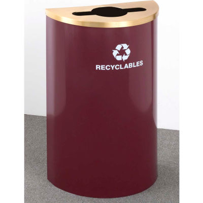 Glaro Value Recyclepro Single Stream Half Round Midnight Blue, 16 Gallon Mixed Recycle - M1899V