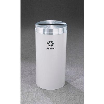 Glaro Recyclepro Single Stream Hunter Green/Satin Brass, 12 Gallon Paper - P-1232