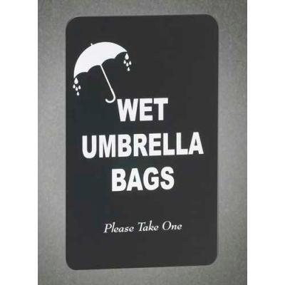 Wet Umbrella Bag Holder Sign Panel