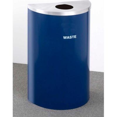 Glaro Value Recyclepro Single Stream Half Round Gloss Chrome, 16 Gallon Waste - W1899V