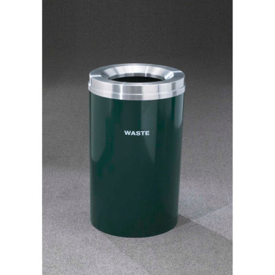 Glaro Recyclepro Single Stream Silver Metallic, 33 Gallon Waste - W-2032