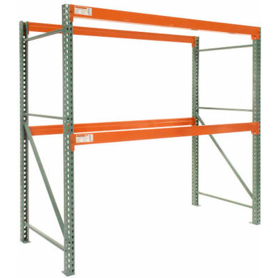 "Global Industrial™ Tear Drop Pallet Rack Starter 120""W X 36""D X 96""H"
