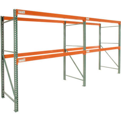 "Global Industrial™ Tear Drop Pallet Rack Add-On 120""W x 42""D x 144""H"