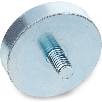"J.W. Winco 50.3-HF-47-M6 Retaining Magnet Assembly Disc-Shaped w/ Threaded Stud - 1.85"" Dia, Steel"