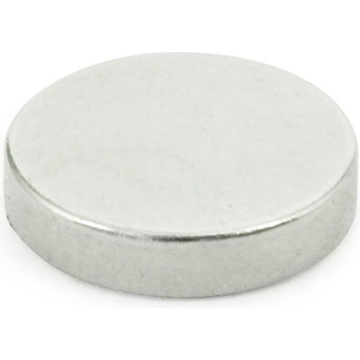 """J.W. Winco 55.2-ND-6-3 Solid Disk-Shaped Raw Magnet - .24"""" Diameter, Steel"""