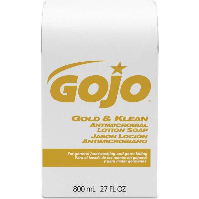 GOJO® Gold & Klean Antimicrobial Lotion Soap - 12 Refills/Case - 9127-12