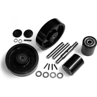 GPS Complete Wheel Kit for Manual Pallet Jack GWK-PTH50-CK - Fits Crown Model # PTH50 (Newer)