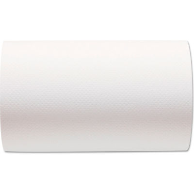 """Sofpull Hardwound Paper Towel Roll, Nonperforated, 9"""" X 400', White, 6 Rolls/Case - GEP26610"""