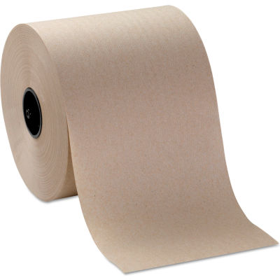 """Sofpull Hardwound Roll Paper Towel, Nonperforated, 7-4/5"""" X 1000', Brown, 6/Case - GEP26920"""