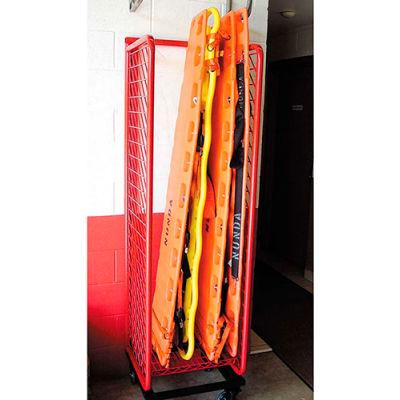 Red Rack™ Mobile Back Board Rack Locker BBR-M - Red