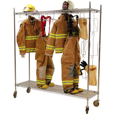 Ready Rack® Mobile Air Dry Laundry Rack Locker DPM - Chrome