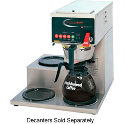 Single, Digitally Controlled Decanter Brewer, 1 Bottom & 2 Left Side Warmers