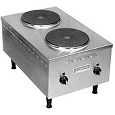 Wells® H-70 Electric Countertop, Two Burner Short Order Hotplate