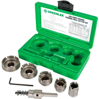 Greenlee® 660 Hole-Carbide Cutter Kit