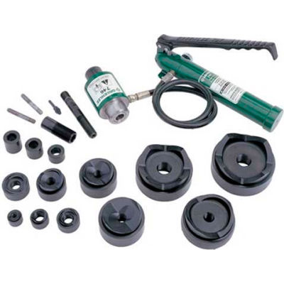 """Greenlee 7310 Driver, Hand Pump, Standard Punches, Dies, And Draw Studs For 1/2"""" Through 4"""" Conduit"""