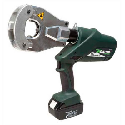 Greenlee EK6FTLX112 Gator Battery-Powered Quad-Point Flip-Top Dieless Crimping Tool With 12V Charger