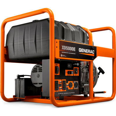 GENERAC® 6864, 5000 Watts, Portable Generator, Diesel, Electric/Recoil Start, 120/240V