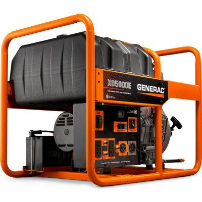 Generac® Portable Generator W/ Electric/Recoil Start, Diesel, 5000 Rated Watts