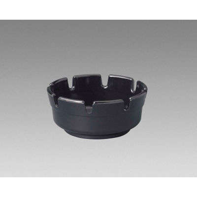 "Gessner 263-M-BK - Deep Area Ashtray, Black, 1-3/4""H x 4"" Diameter, 72/Pack"