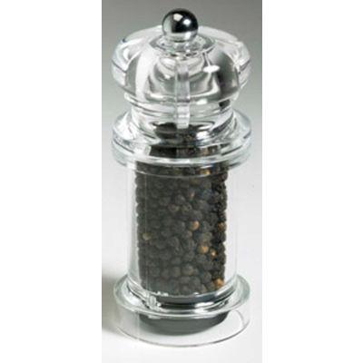 "Mr. Dudley® Peppermills MrD8105 - Kingston Acrylic Peppermill, Clear, 4-1/2""H x 2""W x 2""D"