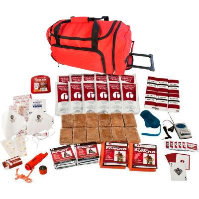 Guardian Survival Gear SKG2 2 Person Survival Kit, Wheel Bag, Red