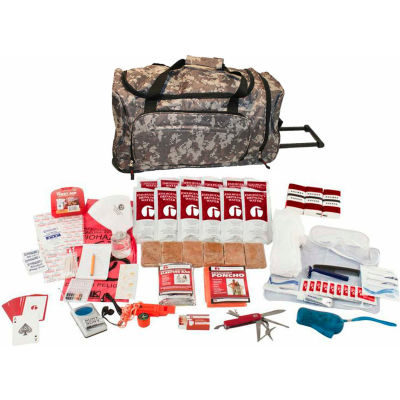 Guardian Survival Gear SKXK Deluxe Survival Kit, Wheel Bag, Camo