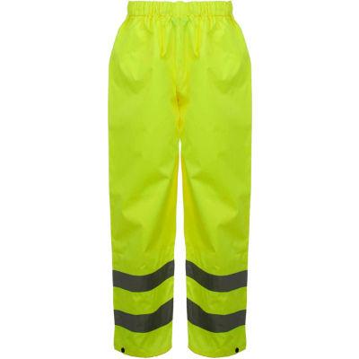 GSS Safety 6801 Class E Standard Waterproof Rain Pants, Lime, 4XL/5XL