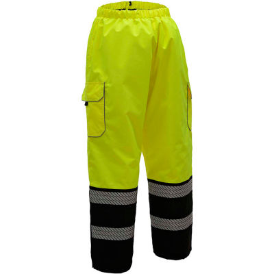 GSS Safety 8711 Quilted Pants, Class E, Lime/Black, L/XL