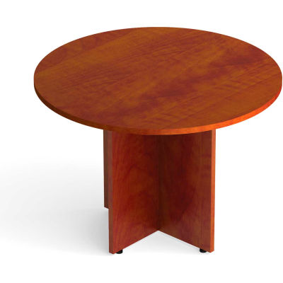 """Offices To Go™ Round Conference Table - 42"""" - American Dark Cherry"""