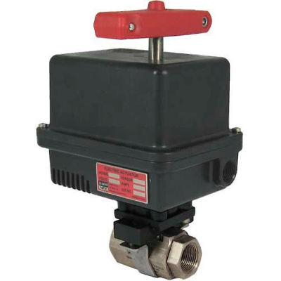 Gemini Valve® 316 S/S Barstock Ball Valve W/600 Series 120AC Electric Actuator, 2""