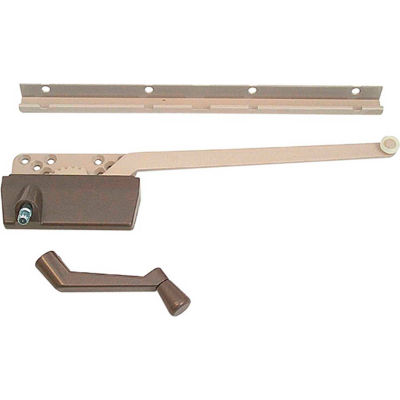 Prime-Line H 3948 Wood Casement Operator with Track and 9-1/2-Inch Arm, Bronze
