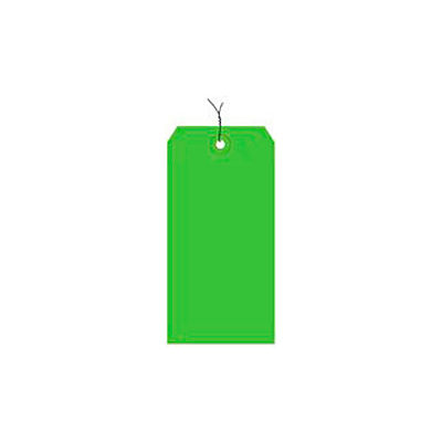"""#8 Light Green Wired Tag Pack 6-1/4"""" x 3-1/8"""" - 1000 Pack"""