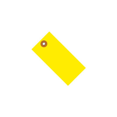 """#5 Yellow Tyvek® Tag 4-3/4"""" x 2-3/8"""" - 100 Pack"""