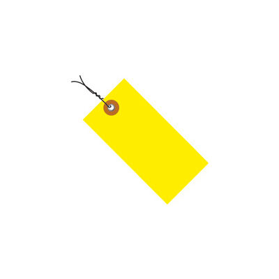 "#5 Wired Yellow Tyvek Tag 4-3/4"" x 2-3/8"" - 100 Pack"