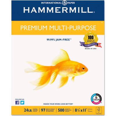 Multipurpose Paper - Hammermill HAM105810 - White - 8-1/2 x 11 - 24 lb. - 2500 Sheets/Carton