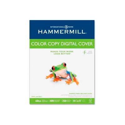 """Hammermill® Color Copy Cover Paper, 8-1/2"""" x 11"""", 60 lb, Ultra Smooth, White, 250 Sheets/Pack"""