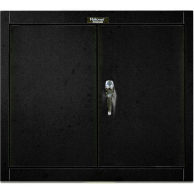 Hallowell 405-3630ME 400 Series Solid Door Wall Mount Storage Cabinet,36x12x30, Ebony,Unassembled