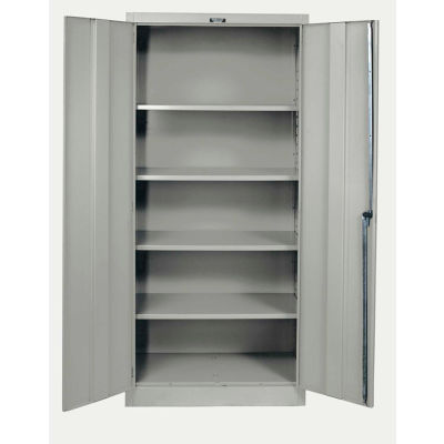 Hallowell 415S18A-HG 400 Series Solid Door Storage Cabinet, 36x18x72, Gray, Assembled