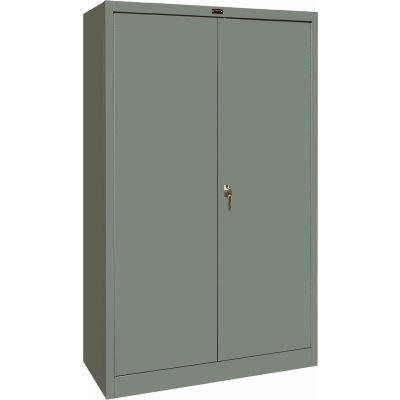 Hallowell 425S18HG 400 Series Solid Door Storage Cabinet, 48x18x72, Gray, Unassembled