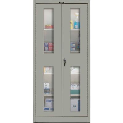 Hallowell 425S18SV-HG 400 Series Safety-View Door Storage Cabinet, 48x18x72, Gray, Unassembled