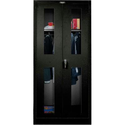 Hallowell 435W24EV-ME 400 Series Ventilated Door Wardrobe Cabinet, 36x24x72,  Ebony, Unassembled